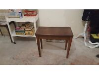 piano stool brown leather