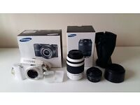 Samsung NX1000 with 2 lenses