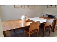 Extendable dining table and chairs - walnut from Heal's