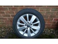 VW alloys 16 inch alloys £70 each with a pirelli tyre