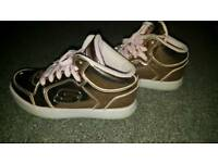 Rose Gold Light-Up Sketchers Size 2