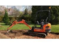 MINI DIGGER FOR HIRE AND DRIVER