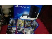 BRAND NEW PS4 PRO WITH 7 TOP GAMES