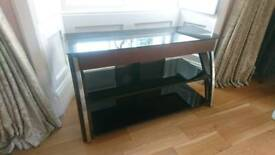 TV unit stand glass large