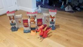 Fisher Price Dragon and Castle Playset