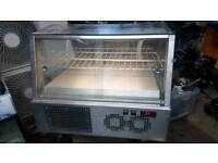 Commercial cake display chiller stainless steel fully working with guaranty in excellent condition