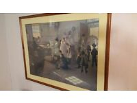 Wood-framed Victorian School Scene