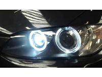 BMW HALO ANGEL EYE UPGRADE CONVERSION SET 80W & BA15S 15 LED BULBS