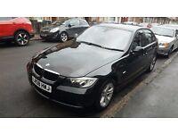 Black BMW 320d 5 door 2008 saloon- parking sensors, cruise control, bluetooth