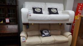 Beautiful white leather sofa