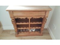 "Pine ""antique""look wine rack cabinet"