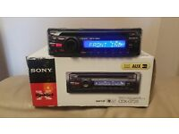 CAR HEAD UNIT SONY CD MP3 PLAYER WITH AUX AND RCA PRE OUT 4 x 45 WATT AMPLIFIER AMP