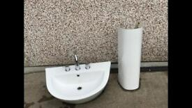 Nearly new bathroom sink and pedestal