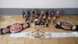 Wrestlers, all well known and popular wrestling figures