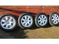 Seat altea alloy wheels 16. T4 T5 golf passat Leon skoda