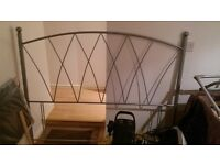 king size iron headboard...in very good condition