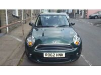 62 plate, Mini One 3 door hatchback, diesel car in Green, 32000 miles, £5995, no canvassers please.