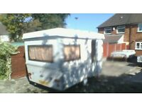 folding caravan 3 berth clean and tidy condition.