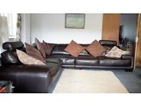 (Available) Leather Corner Sofa 9 ~ Can Deliver