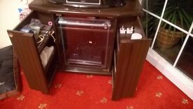 Handmade solid wood TV Cabinet