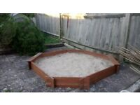 Sandpit - wooden - very good condition - sand included