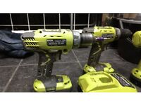 Ryobi hammer drill with 18v lithium ion battery and charger+ other ryobi cordless drills available