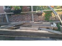 14 Decking Planks 15' (4.5M) in length £5 per plank.