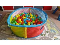 Baby pool with balls