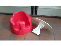 Red Bumbo Seat with Cream Tray
