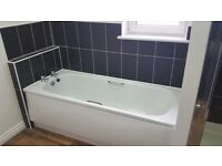 Roca steel bath and taps