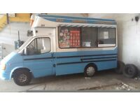 P reg soft ice cream van. For spares or repairs due to mot exp on 19th october.