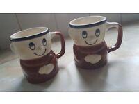 KP crisps vintage mugs