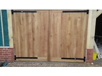 Oak Garage Doors incl. Oak frame NEW Made to measure for sale  Crawley, West Sussex