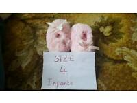 Girls slippers size 4