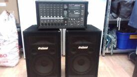 PHONIC 740 mixer amp with 2 ProSound speaker cabs