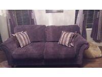Three seater velvet type sofa