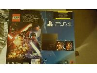 PS4 500gb with Lego Star Wars game and Star Wars Bluray.