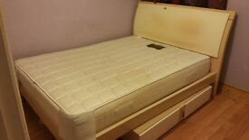 Italian designer double bed with under storage - can deliver