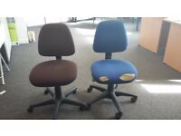 Office chairs, very comfortable, ergonomic, adjustable, with wheels.