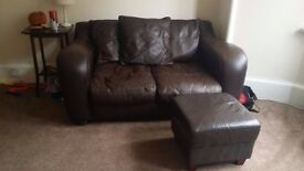 matching set- 2 sofas and 1 footstool