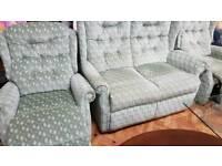 Sofa set 2 single seater recliners & a 2 seat sofa