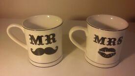 3 Sass & Belle Mr & Mrs Mugs ~ Brand New