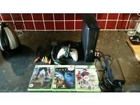 Xbox 360S Bundle + 3 Games + Controller