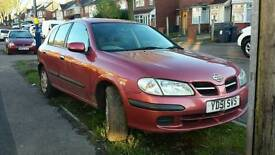 NISSAN ALMERA 2001 (51 PLATE) 1.5 5DR MANUAL RED