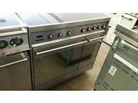 Smeg induction 90cm range cooker used twice