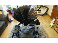 Silver Cross Linear Freeway pram and baby car seat