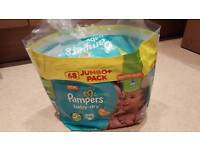 Pampers Baby Dry Nappies 5+ around 25 New Pieces
