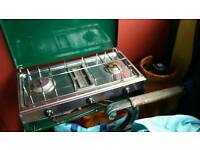 Camping stove and gas bottle