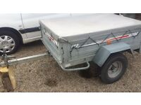 Erde 142 galvanised tipping trailer