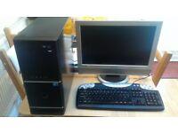 Desktop Computer, Monitor, mouse and keyboard for sale  Bridgend